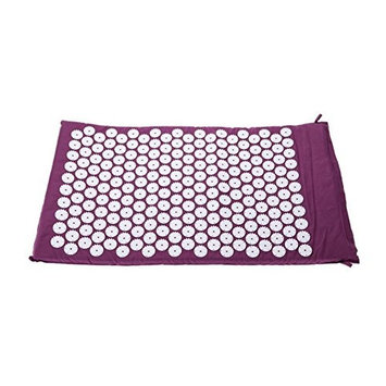 TOOGOO Carpet Mat for Acupressure Acupuncture Yoga Massage + Carry Bag purple