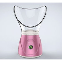 Hann Facial Steamer Professional Sinus Steam Inhaler Face Skin Moisturizer Facial Mask Sauna Spa Steamers with Aromatherapy Diffuser Humidifier Function (Pink)
