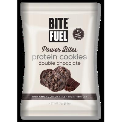 Bite Fuel Llc Bite Fuel, Power Bites, Double Chocolate Protein Cookies, 3 Oz