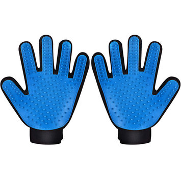 VicTsing Pet Grooming Glove Brushes, Deshedding Tool, for Removing Pet Shedding Hair, Pet Massage and Bathing Brush or Comb, for Dogs, Cats, Horses( One Pair, for Left and Right Hands )