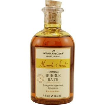 MUSCLE SOAK by Aromafloria FOAMING BUBBLE BATH 9 OZ BLEND OF EUCALYPTUS, PEPP... (Package of 4 )