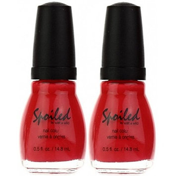 WET N WILD Spoiled Nail Color LOX-Y LADY (PACK OF 2) (Plus a Free Nail File From fetish for Natural Nails And Nail Tips)
