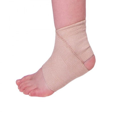 BraceAbility Kids Elastic Ankle Support | Youth Foot Sleeve Wrap & Arch Support Strap for Child Ankle Instability, Athletic Protection, Gymnastics, Soccer (Medium)