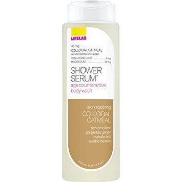 Lifelab Colloidal Oatmeal Age Counteractive Body Wash for Sensitive Skin Shower Serum, 14.7 Fluid Ounce