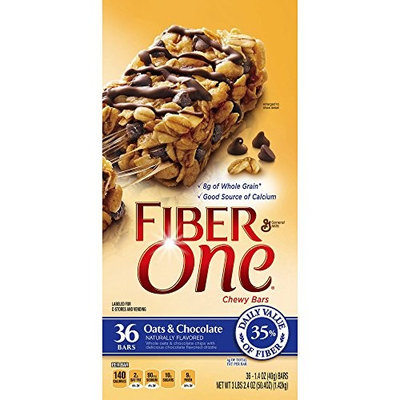 Fiber One Oats & Chocolate Chewy Bars, 36 ct. (pack of 2)