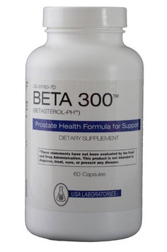 Pure Beta 300 - Pharmacist Formulated for Prostate Health - Triple The Ingredients - Beta Sitosterol, Selenium, Zinc 60 Caps - 100% Natural Prostate Support - Years Of Proven Results