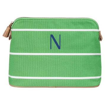 Cathy's Concepts Personalized Green Striped Cosmetic Bag