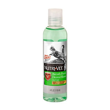 Nutri-Vet Breat Fresh Dental Rinse for Cats 4 oz (118 ml)