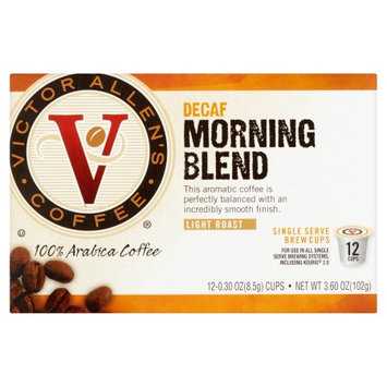Trilliant Victor Allen's coffee Morning Blend Decaf Coffee Single Serve Cups For Keurig K Cup Brewer, 12 Count