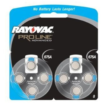 Rayovac Proline Advanced Size 675 Hearing Aid Batteries, 40 Batteries (1 Box)