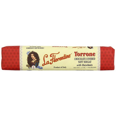 La Florentine Dark Chocolate Covered Soft Nougat with Almonds, 5.3 ounce [with Almonds]