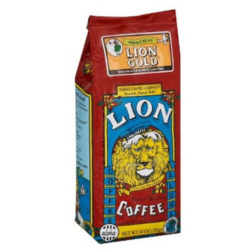 Lion Coffee Lion Gold Medium Roast Whole Bean Coffee - 10oz