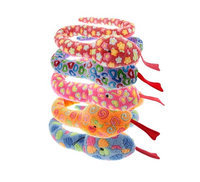 Multipet Slitherbee Plush Snake Dog Toys - Assorted Solid - 67 in.