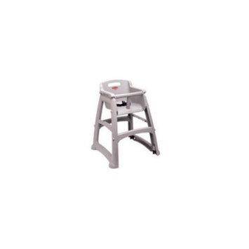 Rubbermaid Commercial Sturdy Chair Youth Seat High Chair, Platinum, FG780608PLAT [Preassembled Without Wheels, Platinum]