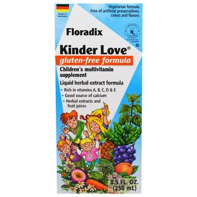 Flora, Floradix, Kinder Love, Children's Multivitamin Supplement, Gluten Free Formula, 8.5 fl oz (250 ml)