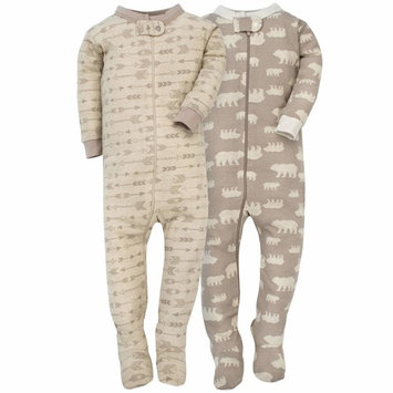 Baby Boy Assorted Prints Cotton Footed Unionsuits, 2-pack [baby_clothing_size: baby_clothing_size-9m]