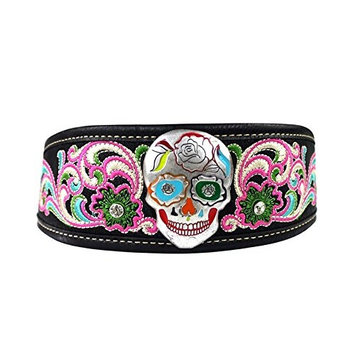 Sugar Skull Embroidered Women Headband Stretch, Hair Accessories, Hair Jewelry