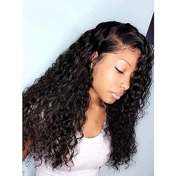Curly Lace Front Wig Long Water Wave Wigs Black Hair Natural Hairline Heat Resistant Fiber Lace Wigs For Women 20
