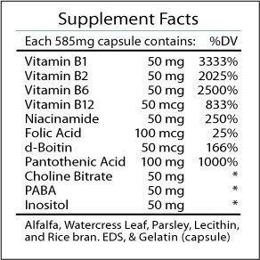 Professional Botanicals Naturally Botanicals Vitamin B Complex - 90 Caps