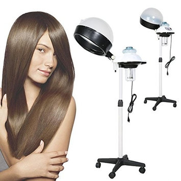 Pagacat 110V Professional Salon Hair Steamer Rolling Stand Base Beauty Hood Color Processor Adjustable Hair Dryer (US Stock)