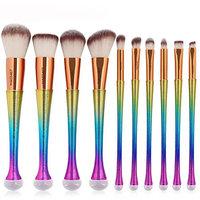 Becoler Eyeshadow Contour Eye Lip Makeup Brushes 10 Pcs
