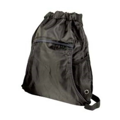 Ddi Light Weight Drawstring Tote/Backpack In One-Black (Pack Of 48)