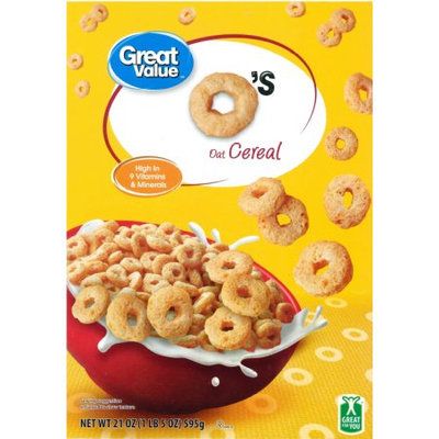 Wal-mart Store, Inc. Great Value Toasted Whole-Grain Oat Spins Cereal, 21 oz