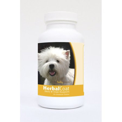Healthy Breeds Pet Supplements 60 West Highland White Terrier Natural Skin/Coat Support Chewable Tablets for Dogs