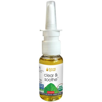 Organic Clear & Soothe | 0.95 fl. oz. | Herbalized Sesame Oil | Natural Nasal Lubricant to Maintain Moist Sinuses