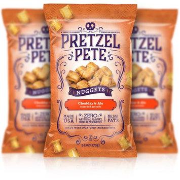 Pretzel Pete, Inc. Pretzel Pete Pretzel Nuggets, Cheddar Ale, 9.5 Oz, Pack of 3