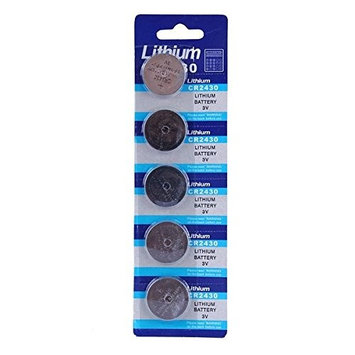 MK 5PCS Lithium CR 2430 Cell Button Coin Battery Watch 3V Electronic