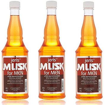 [VALUE PACK OF 3] JERIS MUSK FOR MEN AFTERSHAVE COLOGNE 14 OZ: Beauty
