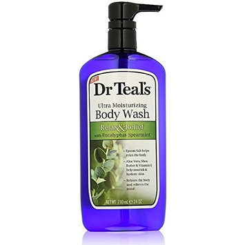 Dr Teal's Ultra Moisturizing Body Wash, Relax & Relief with Eucalyptus Spearmint 24 oz by Dr. Teal's