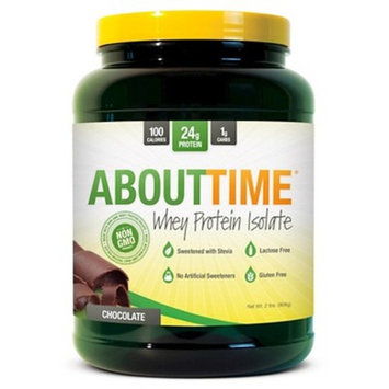 SDC Nutrition About Time Whey Protein Isolate Powder, Chocolate, 2 Pound [Chocolate, 2 Pound]