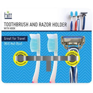 Hitt Brands Toothbrush and Razor Holder with Hook