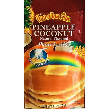 Hawaiian Natural Flavored Pancake Mix! Choose From Macadamia Nut Flavors! Just Add Water! 6oz Package! (Pineapple Coconut)