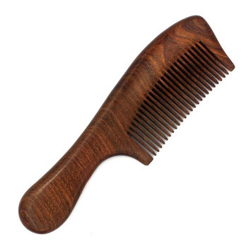 Wood Hair Comb/Large Wooden Comb/No Static Hair Comb/Real Wood Comb-Made of A Whole Piece of Green Sandalwood