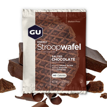 GU Energy Stroopwafel Sports Nutrition Waffle, Gluten Free Salted Chocolate, 16-Count [Gluten Free Salted Chocolate]