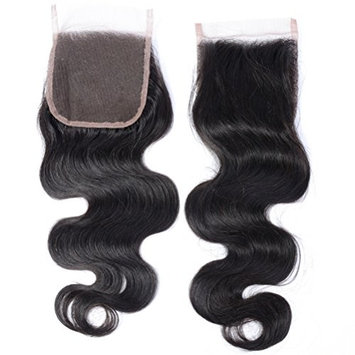 GEM HAIR Brazilian Virgin Hair Body Wave Lace Closure 1PC 8-20IN Free Part Brazilian Body Wave Lace Front Closure Brown Lace Natural Look 18inches
