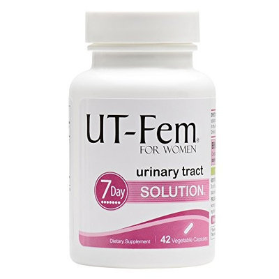 UT-Fem UTI Solution – Urinary Tract Infection 7-Day Cleanse – For Bladder & Urinary Tract Health – contains D-Mannose & even more proven ingredients - 42 Capsules (1 Bottle)