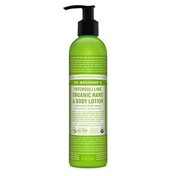Dr. Bronner's & All-One Organic Lotion for Hands & Body, Patchouli Lime, 8-Ounce Pump Bottle by Dr. Bronner's