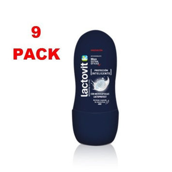 Lactovit Men Roll-on Deodorant Deo LactoProtect 62.5ml Pack of 9