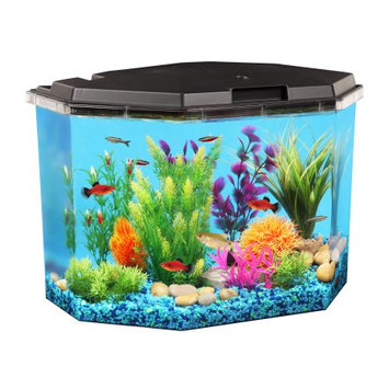 Kollercraft API Semi-Hex Aquarium Kit with LED Lighting and Internal Filter, 6-12-Gallon