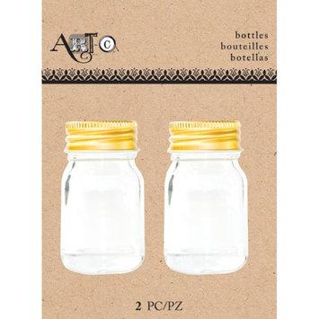 Momenta Art-C Mini Glass Bottles-Small Mason, 2/Pkg