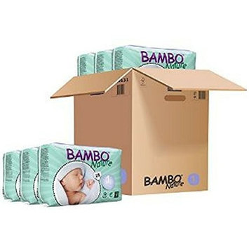 Bambo Nature Baby Diapers Classic, Size 1, count 168 (Pack of 1)