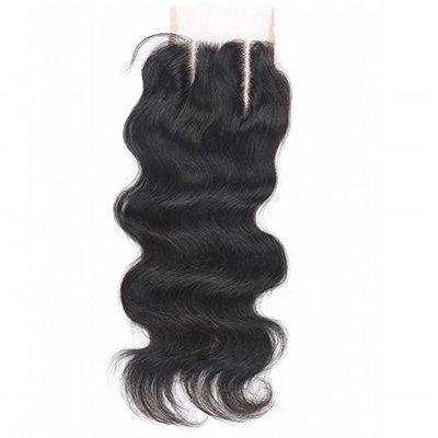 Beata Hair 130% Density Brazilian Body Wave Lace Closure 3 Part 100% Virgin Human Hair Closure with Bleached Knots (10inch)