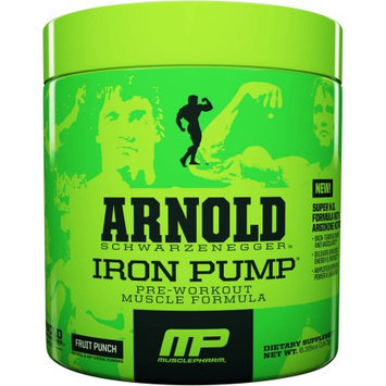 Arnold Iron MusclePharm Arnold Schwarzenegger Iron Pump Pre-Workout Muscle Formula Fruit Punch Dietary Supplement, 6.35 oz