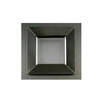 Square Plastic Dinner Plates, Black, 10.75 Inch - 10 Count