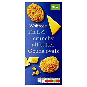 Gouda Cheese Oval Biscuits Waitrose 80g (Pack of 2)
