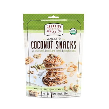Creatives Snacks Co. Organic Coconut Snacks 4oz (Chia + Pumpkin Seeds)
